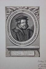 Johannes Sleidanus (1506-1556)  Jurist und Diplpmat , Porträt Kupferstich 1689