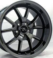 "18"" Black Chrome Mustang FR500 Style Wheels 18x9 18x10 Inch 5X114.3 Rims 94-04"