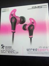 SMS Headphones Audio STREET by 50 Cent Wired Sport Earphones Pink FAST FREE P&P