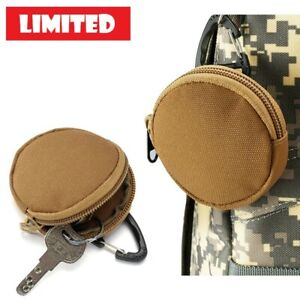 Tactical Zip Small Coin Key Bag Pouch Outdoor Molle Bag Belt Holder Mini Wallet