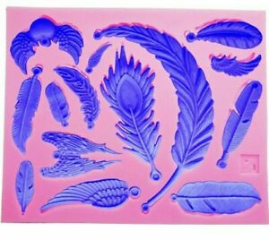 14 in 1 Feathers & Wings Silicone Mold Fondant Cake Soap Resin Clay Jewelry #D25