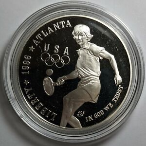 1996-P Olympic Tennis Silver Proof Dollar 175116p