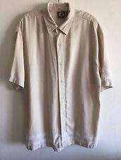 Body Glove Hawaiian Shirt Tropical Plaid Check Button Front Camp Men's Large