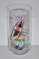 OBELIX (ASTERIX) Diet Coke French 1980s  Glass Coke Diete