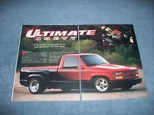 """1991 1500 Short-Bed Custom Show Truck Vintage Article """"The Ultimate Chevy"""""""