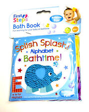 BABY BATH BOOKS PLASTIC COATED CHILD BATH TIME FUN EDUCATIONAL LEARNING TOYS