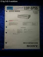 Sony Service Manual CDP SP55 Mini Component System (#6050)