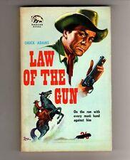 LAW OF THE GUN - CHUCK ADAMS  - VINTAGE  WESTERN P/BACK