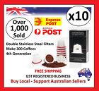 10 x LATEST Refillable Reusable Coffee Tea Capsules Pods Pod 4 Nespresso Machine