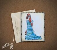 2011 Disney Designer Doll Princess Note Card ARIEL - Steve Thompson Art