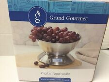 Digital Food Scale Stainless Steel Bowl 11 LB Timer Temperature Grand Gourmet