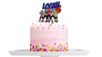 Personalised power rangers cake topper Decoration any name age Birthday