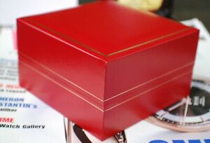 TRADITIONAL RED WATCH STORAGE BOX PERFECT FOR OMEGA, CARTIER, VINTAGE WATCHES..