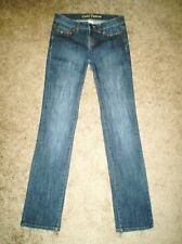 Cache Premium Jeans Size 2 28x32 Embellished Pockets Straight Leg *T