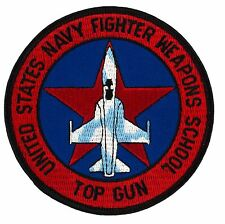 """US Navy Top Gun Patch (181) Auction 4"""" Round Embroidered Patch 66186"""