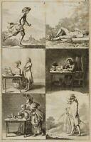 CHODOWIECKI (1726-1801). Illustration eines lateinischen Lehrbuchs; Druckgraphik