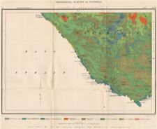 Victoria Geological survey. WONTHAGGI CAPE PATERSON. Australia 1909 old map