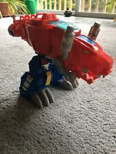 Transformers Playskool Rescue Bots ELECTRONIC OPTIMUS PRIMAL Figure T-REX Works
