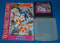 Sonic The Hedgehog Chaos Sega Game Gear Game w/Case & Manual