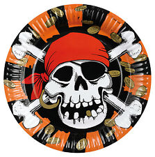 8 Jolly Roger Paper Plates - Brand New Pirate Party