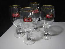 4 NEW Stella Artois Chalice 40 CL Beer Glasses Pub Bar stemware Goblet Man Cave