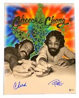 CHEECH MARIN and TOMMY CHONG Signed Autographed 11X14 Matte Photo COA BECKETT 05