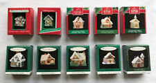10 Old English Village ~ Hallmark Miniature Ornaments ~ Complete Collector's Set