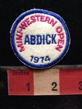 Vtg 1974 ABDICK (possibly A.B. Dick Company ?) MINI-WESTERN OPEN Golf Patch 68P4