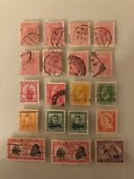 NEW ZEALAND Australia STAMPS Early Estate Collection Lot Set 19 Used Stamps (GS)