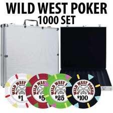 Wild West Casino Poker Chip Set 1000 Poker Chips Aluminum Case