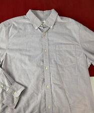 Gap Modern Oxford Mens Shirt Large Blue Pink Striped Button Down