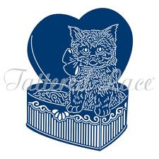 """Tattered Lace Dies Chocolate Box Kitty, 3.39"""" x 4.53""""   TTLD0008 ~ NIP"""