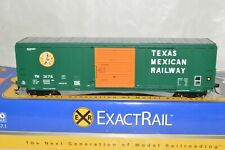 HO scale ExactRail Texas Mexican Ry 50' PS 5344 box car train