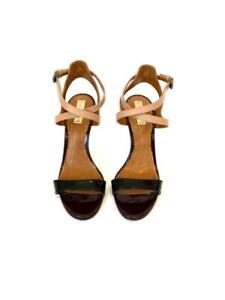 Reed Krakoff Shoes Nude and Black Leather Strappy Sandals Size 38