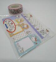 Sanrio Hello Kitty Sticky Note Marker + Marking Tape Stationary