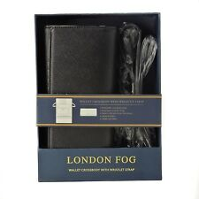 London Fog Wallet Crossbody In Black