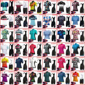 Cycling Jersey Kits 2021 Womens Short Sleeve Shirts Bib Shorts Set Bike Uniform