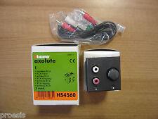 BTICINO HS4560 Axolute scura My Home Ingresso RCA incasso 2 moduli
