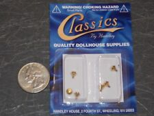 Dollhouse Miniature Hardware Brass Cabinet Door Knobs G71 1:12 Dollys Gallery
