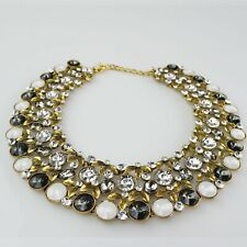 Womens Collar Fashion Necklace Black Gold Grey Jewellery Crystal Chain JEWELRY