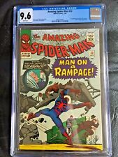 AMAZING SPIDER-MAN #32 CGC NM+ 9.6; White pg!; 2nd app. of Dr. Curt Connors!