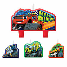 4 Piece Blaze and the Monster Machines Birthday Party Cake Decoration Candles