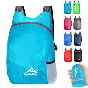 20L Backpack Bag Camping Comfortable Folding Outdoor Shockproof Sports