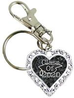 Graduation Hat Class of 2020 Black Heart Key Chain with Clip Senior Car Gift