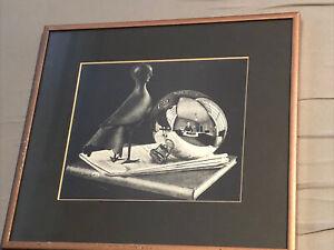 M.C. Escher - Still Life w/Spherical Mirror Custom Gallery Framed Print  10x11