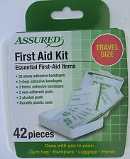 FIRST AID KIT 42 Pieces/Kit Compact Travel Purse Gym Bag Backpack Luggage