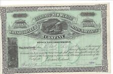 "COLORADO AND NEW MEXICO CONSOLIDATE MINING AND SMELTING COMPANY...1880""S STOCK"