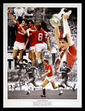 *New* Norman Whiteside Signed Manchester United Football 12x16 Montage