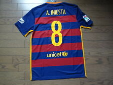 FC Barcelona #8 A. Iniesta 100% Original Jersey Shirt 2015/16 Home BNWT M