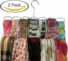 2 Sets Durable Steel Scarf Tie Belt Accessories Hanger Organizer Holder Rack